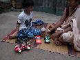 Kid playing with Grandma