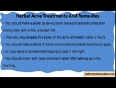 Natural And Herbal Acne Treatments And Remedies