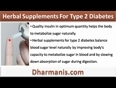 Herbal Supplements For Type 2 Diabetes That Balance Blood Sugar Levels Safely