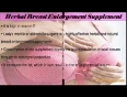 Herbal And Natural Breast Enlargement Supplement