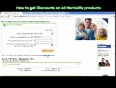 How to get discounts on herbalife products. buy online