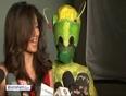 Chitrangada Singh poses with aliens for PETA photoshoot