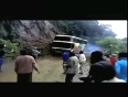 SHOCKING VIDEO: Bus topples over a cliff