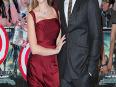PREGNANT Scarlett Johansson Red BABY BUMP - Captain America Premiere LONDON