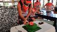 Shami celebrates birthday with Kings XI Punjab team