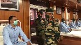 Army Chief General MM Naravane interacts with soldiers at Military Hospital, Leh
