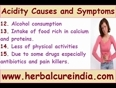 15 Some of the main causes of acidity