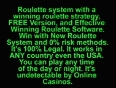 Online Roulette Systems Wheels