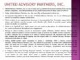 United Advisory Partners, Inc. TUMBLR BUFFER