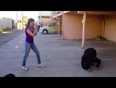 Girl fights off a thief