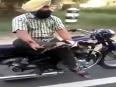 Crazy bike stunt
