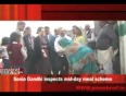 Sonia gandhi inspects mid-day meal scheme