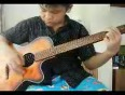 Playing Guitar Cover of the Myanmar Song