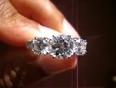 Real brilliance  diamond simulant ring