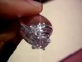 Real brilliance diamond simulated flower ring
