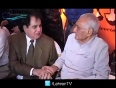 Dilip Kumar smiles from the hospital bed