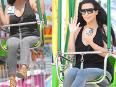 Kim Kardashian Enjoys Rides And Churros