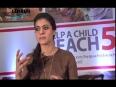 Kajol promotes Help A Child Reach 5 handwashing campaign