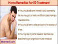 Herbal Cures And Home Remedies For ED Treatment