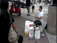 Awesome bucket drummer video