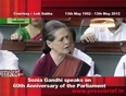 Sonia Gandhi speaks on 60th Anniversary of the first sitting of Parliament of India