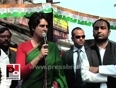 Priyanka gandhi vadra in sultanpur urges the people to support congress
