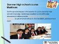 Courses high school credit Markham