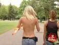 Girl loses top