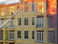 Man trapped in fire rescued video