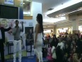 Oops moment in shopping mall video