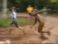 Mud man attacks  girl video