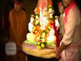 (VIDEO) Gurmeet Chaudhary And Debina Bonerjee Dances At Ganpati Visarjan 2014
