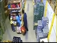 Girl thief in shopping mall video