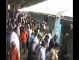Man struck between train and platform video