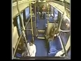 Lady falls in bus video