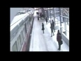 Man pushed before train video