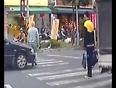 Car hits man while crossing video