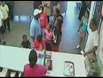 Lady beaten at food counter video