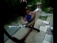 Girl falling from hammock video
