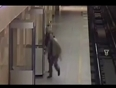 Woman pushed on railway track video