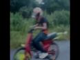 Unseen bike wheelie stunt video
