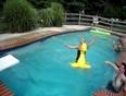 Bikini girl dinosaur jump video