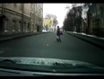 Woman road accident while crossing video