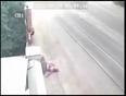 Woman hit by drunk car driver video