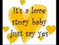 Love Story By Taylor Swift with lyrics on screen