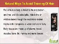 Natural Ways To Avoid Thinning Of Hair That Are Effective