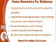 Home Remedies For Baldness, Step By Step Procedure