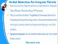 Which Herbal Remedies For Irregular Periods Problem Work In Safe Manner
