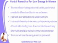 Which Herbal Remedies For Low Energy Problem In Women Work In Fast Manner