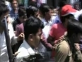 10-apr- motor-cycle thief caught and beaten up on the streets of firozabad near agra